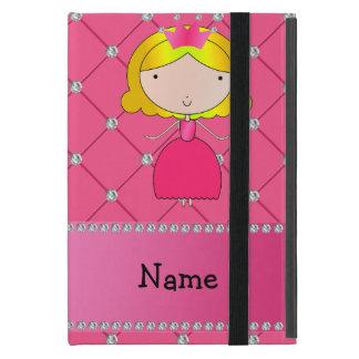 Personalized name princess pink diamonds iPad mini cases