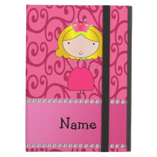 Personalized name princess pink swirls iPad air case