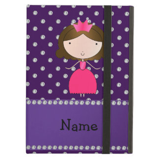 Personalized name princess purple diamonds iPad air case
