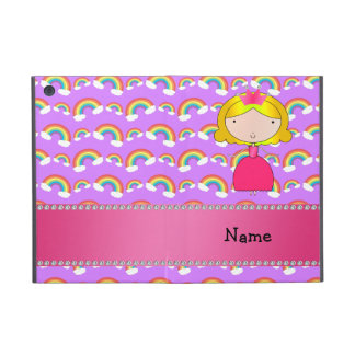Personalized name princess purple rainbows cases for iPad mini