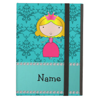 Personalized name princess turquoise damask iPad air covers