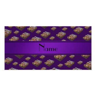 Personalized name purple brownies custom photo card
