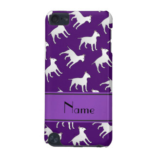 Personalized name purple bull terrier dogs iPod touch 5G cases