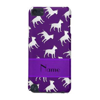Personalized name purple bull terrier dogs iPod touch (5th generation) cover