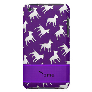 Personalized name purple bull terrier dogs iPod touch case