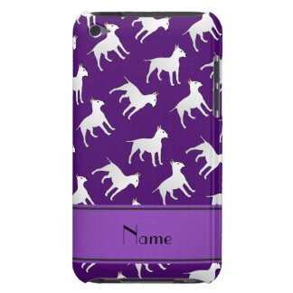 Personalized name purple bull terrier dogs iPod touch cases