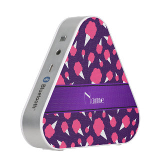Personalized name purple cotton candy bluetooth speaker