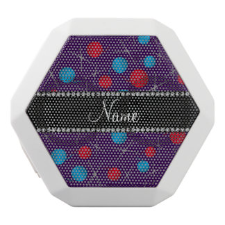 Personalized name purple crochet pattern white boombot rex bluetooth speaker