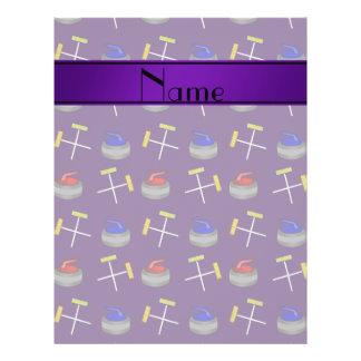 Personalized name purple curling pattern custom flyer