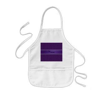 Personalized name purple diamonds kids' apron