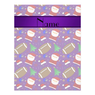 Personalized name purple football christmas full color flyer
