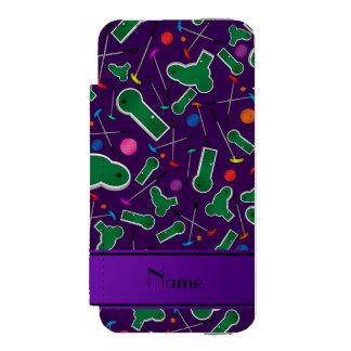 Personalized name purple mini golf incipio watson™ iPhone 5 wallet case