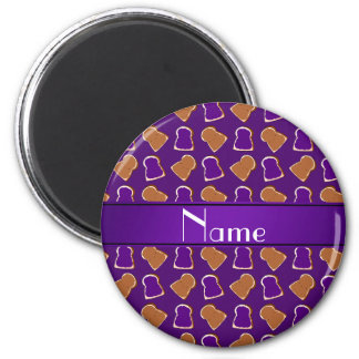 Personalized name purple peanut butter jelly magnet