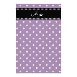 Personalized name Purple pink diamonds Customized Stationery