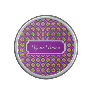 Personalized Name Purple Psychedelic Floral Quatre Bluetooth Speaker