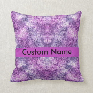 personalized name purple throw pillow