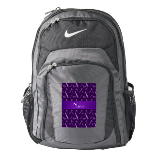 Personalized name purple tools pattern backpack