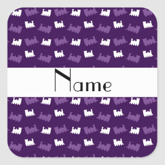 Personalized name purple train pattern stickers