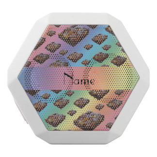Personalized name rainbow brownies white boombot rex bluetooth speaker