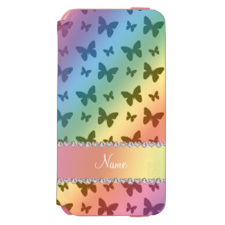 Personalized name rainbow butterflies incipio watson™ iPhone 6 wallet case