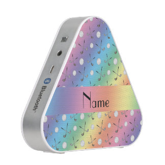 Personalized name rainbow golf balls bluetooth speaker