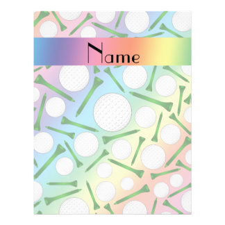 Personalized name rainbow golf balls tees flyers