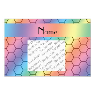 Personalized name rainbow honeycomb photograph