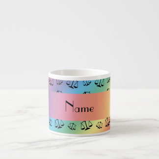 Personalized name rainbow justice scales espresso mugs
