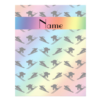 Personalized name rainbow ski pattern flyer