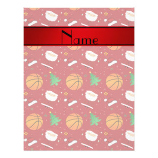 Personalized name red basketball christmas flyers