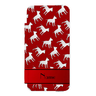 Personalized name red bull terrier dogs incipio watson™ iPhone 5 wallet case