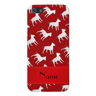 Personalized name red bull terrier dogs iPhone 5 cases