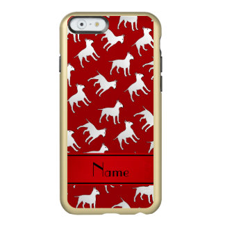 Personalized name red bull terrier dogs incipio feather® shine iPhone 6 case