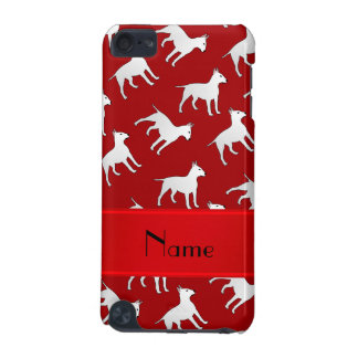 Personalized name red bull terrier dogs iPod touch 5G covers