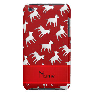 Personalized name red bull terrier dogs iPod touch cases