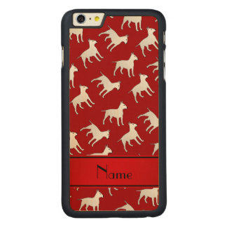 Personalized name red bull terrier dogs