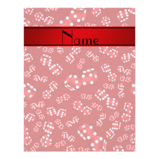 Personalized name red dice pattern 21.5 cm x 28 cm flyer