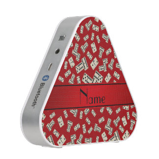 Personalized name red dominos