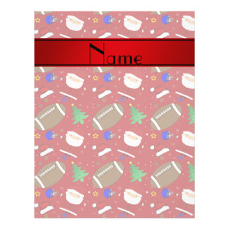Personalized name red football christmas full color flyer