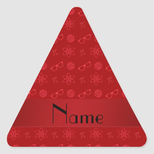 Personalized name red geek pattern sticker