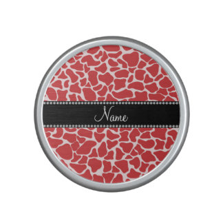Personalized name red giraffe pattern speaker