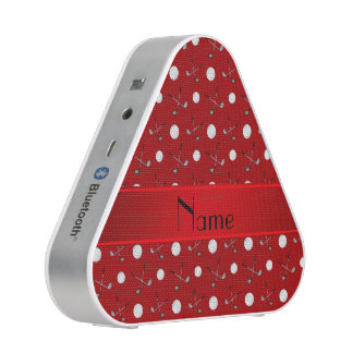 Personalized name red golf balls speaker