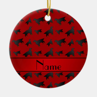 Personalized name red gordon setter dogs ceramic ornament