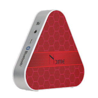 Personalized name red honeycomb