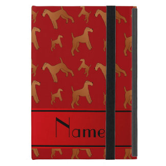 Personalized name red irish terrier dogs iPad mini covers