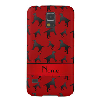 Personalized name red Labrador Retriever dogs Galaxy S5 Covers