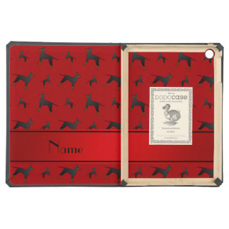 Personalized name red Manchester Terrier dogs Case For iPad Air