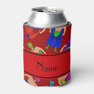 Personalized name red mexican wrestling can cooler