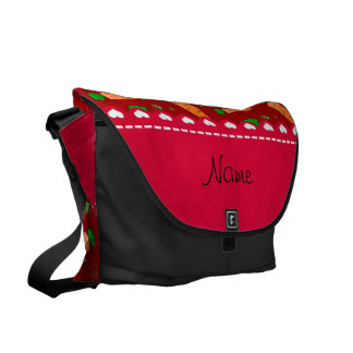 Personalized name red orange carrots commuter bags