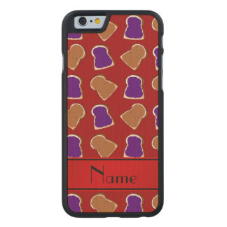 Personalized name red peanut butter jelly carved® maple iPhone 6 slim case